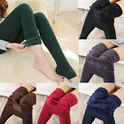 Women Sexy Thick Warm Solid Fleece Lined Thermal Elastic Stretchy Leggings Pants