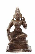antique ca. 10th C. Indo Javanese bronze statuette Hindu deity Parvati