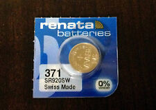 FREE SHIPPING NEW ONE 1 Pc Renata 371 D370 SR920 Watch Battery USA Seller