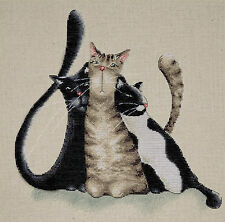 Cross Stitch Kit ~ Design Works Kitty Trio Cute Detailed Cats #DW2801
