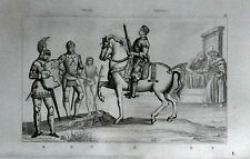 ITALIA: COSTUMI - USI  - TORNEI - CAVALIERI = LEMAITRE.ITALIA.Artaud.1835