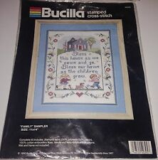 Bucilla Family Sampler Bless This House Butterflies Children Cross Stitch Kit!