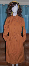 NOS CHRISTOPHER LEE BY WILLIAM VTG SAFARI TRENCH UNION MADE DRESS 13/14 NEW