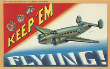 WWII MILITARY Post Card - HUDSON BOMBER LOCKHEED B-14 #951 signed by JusmeT