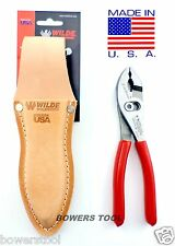 "Wilde Tool Professional Flush Slip Joint Pliers Leather Pouch 6-1/2"" MADE IN USA"