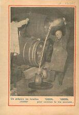 chais à futailles de bois Vin du Beaujolais Nouveau Vignerons 1935 ILLUSTRATION