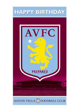 Aston Villa Birthday Greeting Card - Official Product NEW (AV001)
