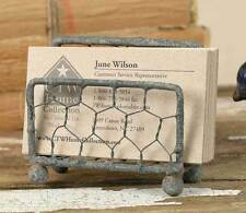 Rustic Chicken Wire Business Card Holder by Colonial Tin Works (1)