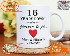 16th wedding anniversary gift 16 years marriage, Any dates names any anniversary