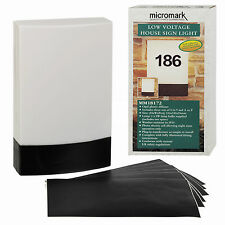 MICROMARK PERSONALISE HOUSE NUMBER OR NAME PHOTO CELL WALL SIGN LIGHT