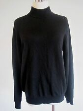 Charter club 2Ply Cashmere Turtleneck Black Sweater Size Medium M