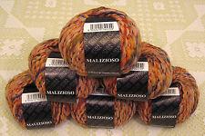 """$54 Lot--6 Skeins Filatura Di Crosa Malizioso """"2 Peach"""" Yarn + Gift!"""