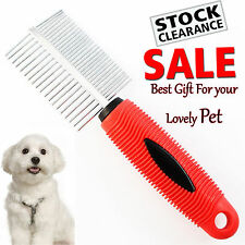Pet Cat Dog Grooming Row Teeth Comb Brush Rake Hair Shedding Flea 2 Sides