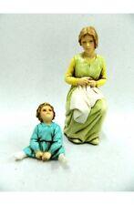 Pastore Mamma con Bambino Landi Moranduzzo Cm 10 - Pastori Presepe