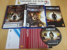 PLAY STATION 2 PS2 KILL SWITH kill.switch COMPLETO PAL ESPAÑA