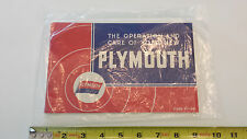 1939 P7-P8 Plymouth Owners Instruction Book 74 pages  w/ Referral Card Inside!