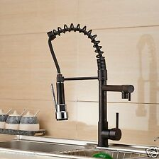 Oil Rubbed Bronze Pull Down Spray Kitchen Sink Faucet Swivel Spout Mixer Tap