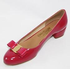 AUTH Salvatore Ferragamo Women Vara 3cm Agata Rosa Heel Pumps Shoes 9.5B