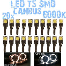 N 20 LED T5 6000K CANBUS SMD 5050 Lampen Angel Eyes DEPO FK BMW Series 3 E91 1D3