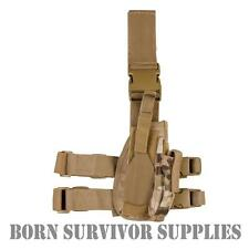 Tactical DROP LEG PISTOL GUN HOLSTER Mag Pouch MULTICAM Camo MTP Airsoft Airgun