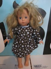 "Gotz Puppe 18"" Doll Soft Torso Articulated Arms & Legs Blonde Blue Eyes NEEDS"