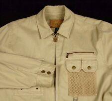 Lauren Ralph Lauren Safari Outfitters Zip Front Coat Beige Sz L Hunting Fishing