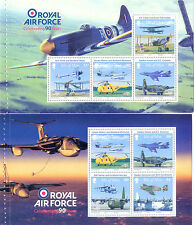 Isla De Man R.a.f. - 90º Annive Set De 4 sheets/panes mnh-hurricane-harrier Etc