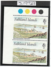 FALKLAND ISLANDS 1981 Sg390 VARIETY IMPERF MARGIN MINT STAMP TRAFFIC LIGHTS CERT