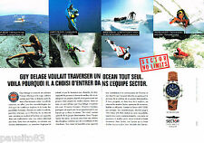 PUBLICITE ADVERTISING 085  1995  La montre SECTOR ADV 2500(2p) GUY DELAGE