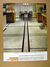 1966 Kentile Au Naturel Asbestos Tile kitchen floor photo vintage print Ad