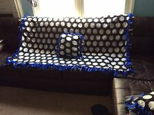 "Royal blue Hand tied Volleyball Fleece Blanket 68""x52"" & 1 toss pillow"