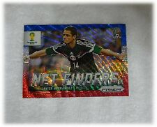 2014 Panini Prizm World Cup Blue Red Wave Net Finders Javier Hernandez Mexico 19