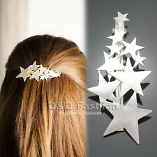 Blogger Silver Shooting Star Hair Pin Clip Cuff Wrap Claw Snap Barrette Bridal