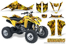 SUZUKI LTZ 400 KAWASAKI KFX 400 03-08 GRAPHICS KIT CREATORX DECALS INFERNO Y