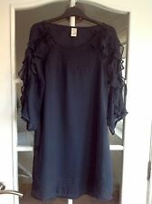 Ladies VILA Navy Occasion Dress - Size XS