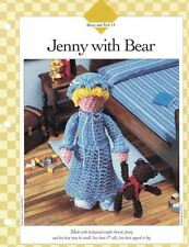 Small Girl JENNY WITH BEAR Doll Crochet Single Pattern Vanna White