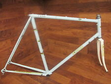 EXTRAODINARILY RARE VINTAGE 3 RENSHO  STEEL LUGGED ROAD BIKE FRAME SET 58CM