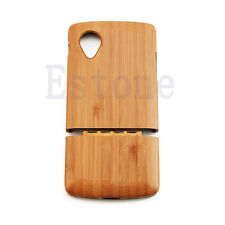 Genuine Natural Wood Phone Bamboo Wooden Rugged Case Cover For LG Google Nexus 5