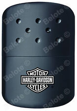 Zippo HD HARLEY DAVIDSON BLACK Refillable Deluxe Hand Warmer With Pouch 40319