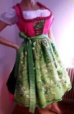 Hochzeits Dirndl Festtags Balkonett Dirndl Strass  3tlg. Gr. 36 grün pink