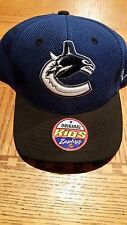 NHL VANCOUVER CANUCKS ZEPHYR BLUE BLACK AUTHENTIC SNAPBACK KIDS HAT CAP YOUTH