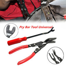 Car Auto Door Card Panel Trim Clip Removal Uphostery Remove Pry Bar Tool 2Pcs