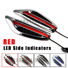 2x RED 8 LED Car Fender Side Indicators Turn Signal Steering Panels light New