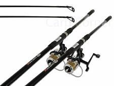 2 x Pesca De Carpa 3,7 m Cañas 1,2 kg TC Barra Y 2 Runner 2BB Carretes Linea
