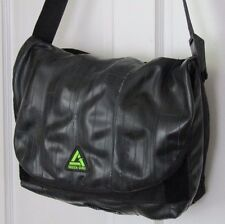 GREEN GURU FREEWHEELER Messenger Bag SHOULDER Upcycle Recycle BIKE TIRE Black