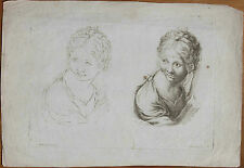 Gravure XVIIe, A. Carracci. Poilly. Engraving, Incisione, Kupferstich, 17th.