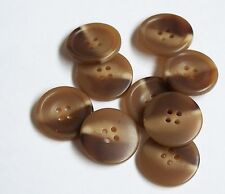 Pack of 10 Brown Faux Bone 25mm 4 Hole Button    0036