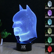 Batman vs. Superman 3D LED illusion Night Touch Switch Table Desk Light Lamp