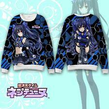 Hyperdimension Neptunia Noire Hoodie Coat Sweatshirt Cosplay Costume Long Sleeve