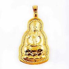fashion jewelry yellow gold filled Guanyin buddha pendant for long necklace